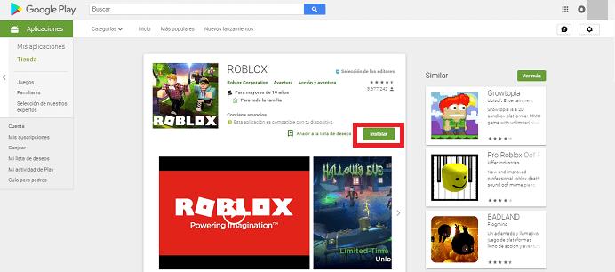 Instalar roblox en android